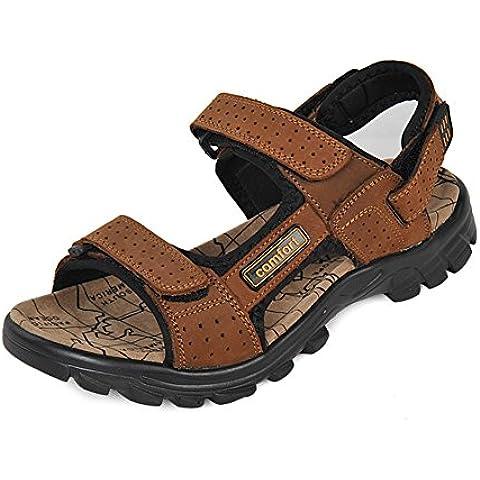 sandalias del verano de los hombres/sandalias de cuero/sandalias de cuero/sandalias y zapatillas casuales de punta abierta/calzado