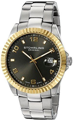Stuhrling 499.332G154 - Orologio da polso da uomo, cinturino in acciaio inox colore argento