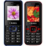IKALL K25(Blue) And K14(Red) Combo Of Dual Sim Mobile, 1000 MAh Battery Capacity