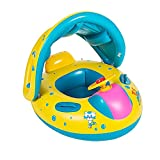 Mystery&Melody 1798/5000Baby Inflatable Yacht Canopy abnehmbar verstellbar 2in 1Safe Swim Float Ring Ring Schwimmer Schwimmen aufblasbar Baby Yacht Seat Schiff Pool Schwimmen Ring Yacht