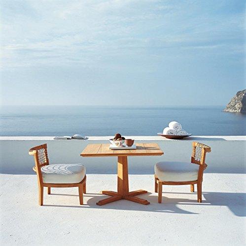 Dafnedesign. COM - Table de Jardin en Teck Table Lounge Synthesis carré h cm 62