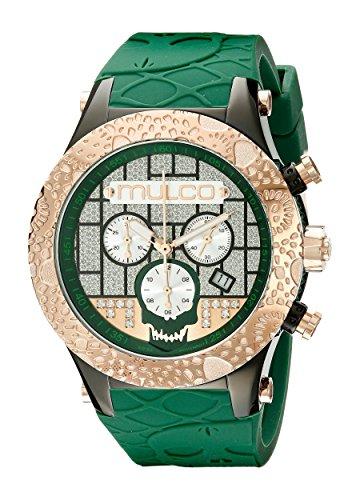 MULCO Men's MW5-2331-473 Couture Analog Display Swiss Quartz Green Watch