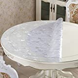 HL-PYL - Tischdecke Wasserdicht und Ölfesten Einweg Runde PVC-Tabelle Mat Tischsets Tischdecke aus Kunststoff Soft Crystal Glasplatte Dd 1,5 mm 110 cm Kreis