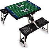 Picnic Time 811-00-175-335-2 Sport Table Los Angeles Rams Digital Print Black