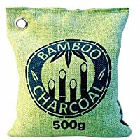 Bambù naturale deodorante purificatore d' aria con carbone attivo–Cuscino miracolo, per bagno, cucina, camera da letto, salotto e WC, auto ecc.–senza sostanze nocive e biodegradabile al 100%–500g–Verde