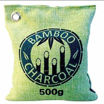 Natürlicher Bambus Lufterfrischer mit Aktivkohle – Wunderkissen – Luftreiniger für Wohnzimmer, Küche, Schlafzimmer, Bad & WC, Auto uvm. - Schadstofffrei und 100 % biologisch abbaubar - 500g - grün