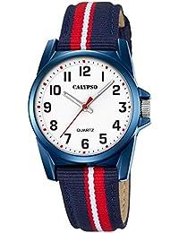 Calypso Montre enfant Junior Collection analogique Quartz cuir textile bleu rouge UK5707/5