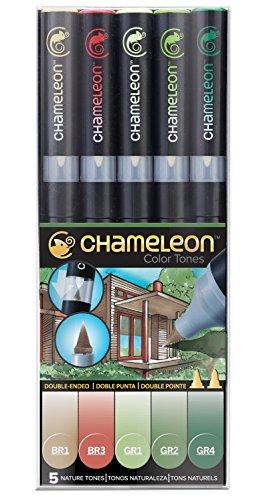 Chameleon Marker Set Naturtöne mit 5 Stiften