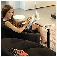 Lounge-tek srl - Lounge-Book, Supporto da pavimento per pc portatile, colore: Nero/Trasparente