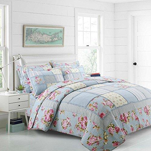 LYJ Bettwäsche Set Bettwäsche aus Reinen Baumwolle Amerikanischen Pflanze Blume Patchwork Spitze Quilt Decken (Quilten Amerikanischer Patchwork Quilten)