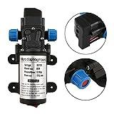 DC 12 V 80 Watt Micro Elektrische Membran Wasserpumpe 5.5L / min Hochdruck Auto Waschen Spray Automatische Schalter Für RV Boot