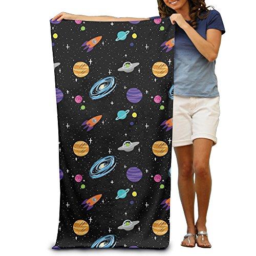 Colofruge Planet Space und Galaxy Bild Erwachsene Baumwolle Strandtuch 78,7x 129,5cm