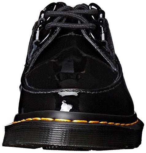 Dr Martens Belladonna BLACK Patent-Chaussures de Femme Noires en peinture Noir