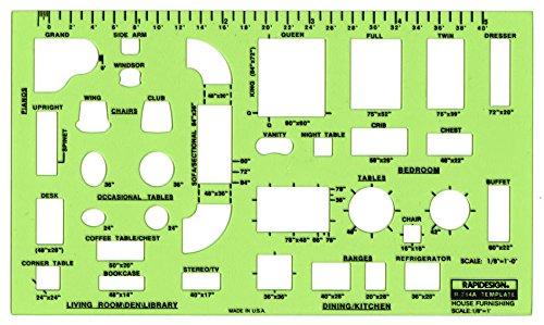 Rapidesign Schablone für Schrauben und Muttern Einrichtungen - 31 mm (1/8 Zoll) -