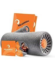 RELAXROLL (das Original) ergonomische Faszienrolle   Massagerolle   Schaumstoffrolle MADE in GERMANY   Effektive Behandlung von Rückenschmerzen, Nackenschmerzen, Achillessehneschmerzen und schweren Beinen