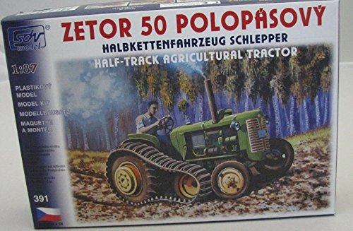 Modellbau Kunststoff Modellbausatz SDV 1:87 H0 Traktor Halbkette Schlepper Zetor 50 Landwirtschaft Fahrzeuge Ostblock DDR