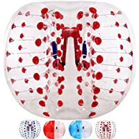 Garybank Bubble Soccer Balls Dia 5 '(1,5m) umano criceto palla,bolla calcio,Palla Paraurti,Zorbing Palla,Knockerball,Palla Loopy-Punto Rosso