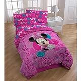 Disney Minnie Mouse Bow-tique coeurs Twin réversible Doudou et Parure de lit...