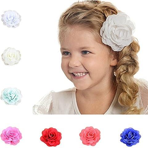 Clips delle neonate della Rosa di capelli del fiore Barrettes accessori dei capelli misti 28 colori