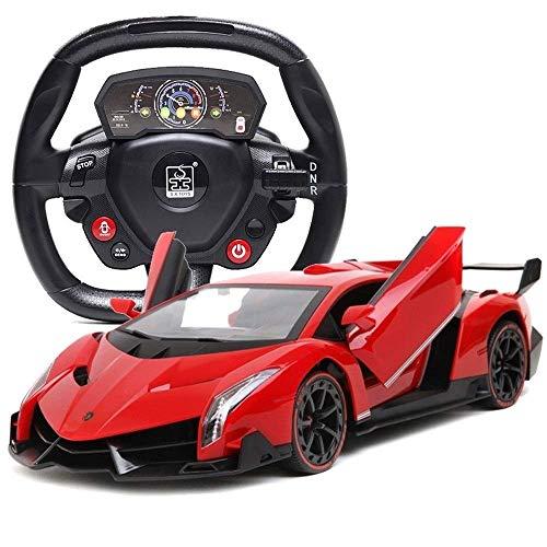AIOJY 4WD Grand Sport Drift Vitesse Stunt Kinder Spielzeug mit LED-Leuchten, Sport-Rennfahrzeug Geschenke for Kinder ferngesteuertes Auto, 1/16 RS RC-Automodell, ferngesteuertes elektrisches