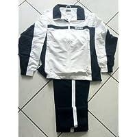 Lotto Tenis Suit Fuerza Junior Unisex Niños de Color Blanco/Azul, Niños Unisex infantil, White - White