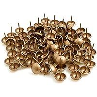 Design61 Ziern/ägel 100 St Polstern/ägel M/öbeln/ägel 13x10mm Retro bronce renaissance lackiert