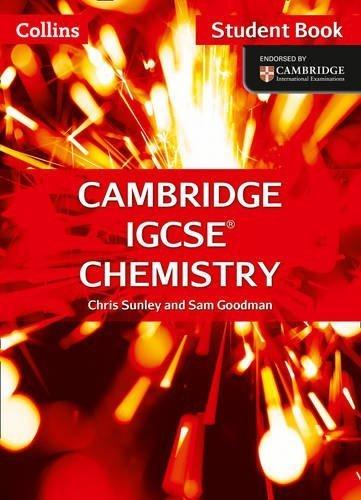Cambridge IGCSE Chemistry Student Book (Collins Cambridge IGCSE) by Chris Sunley (2014-07-30)