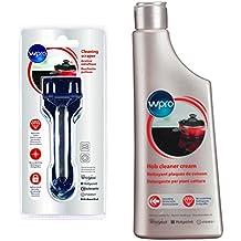 Wpro desengrasante limpiador crema y rasqueta Kit para Breville inducción, vidrio, cerámica y cristal
