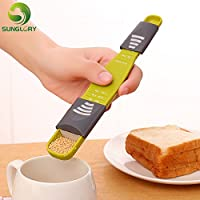Generic Cooking Tools Fondant 9 Levels Sugar Adjustable Measuring Spoon Baking Milk Coffee Powder Metering Scale Kitchen Accessories