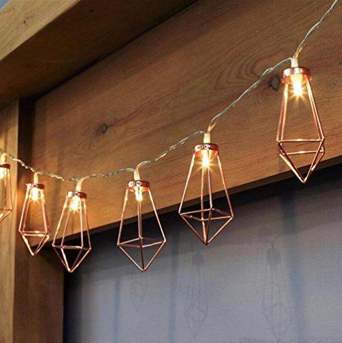 DENG Lichterketten LED Metall Diamant Feenhafte Batterie Weihnachtsbeleuchtung Hochzeitsfeier Festival Outdoor-Dekor