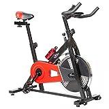 TecTake 401714 Indoor Cycle Fitnessbike, schwarz rot