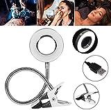 Leselampe für Tätowierungen, Kaltlichtlampe für Augenbrauentätowierungen mit USB-Ladeanschluss und Augenbrauenclip/Tätowierung/Maniküre/Wimpernverlängerung