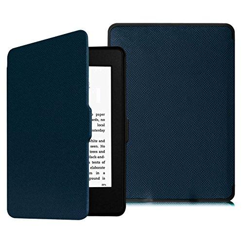 Fintie Custodia in pelle PU per Kindle Paperwhite - non compatibile con il modello 2018 (10ª generazione), Blu scuro