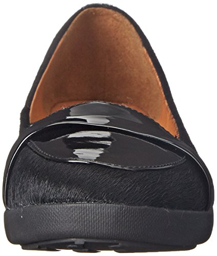 FitFlop - F-pop Loafer, Mocassini Donna Black (Black Mix)