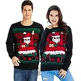 Goodstoworld Ugly Xmas Sweater Damen Herren schwarz Strickpullover Unisex Christmas Sweater Weihnachtspullover Pulli Neuheit Pullover