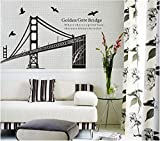 Vereinigten Staaten San Francisco Brücke Wandaufkleber Diy Home Decor Wandbilder Kunst Design Removable Porte