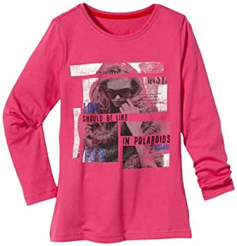 TOM TAILOR Kids Sweatshirt Manches longues Fille - Rose foncé - Pink (5429 shiny fuchsia pink) - FR : 14 ans (Taille fabricant : 164)