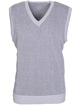 Para hombre V cuello sin mangas Jersey para hombre de punto jersey camiseta de tirantes Slipover sudadera tamaño...