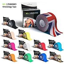 Kinesiology Tape–kg | Physio–Uncut soporte muscular cinta–5cm x 5m rollo–11colores disponibles. Imágenes son fotos exacto de nuestros productos para la representación precisa color, Union Jack