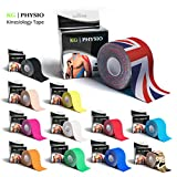KG | PHYSIO Kinesiology Tape - Uncut Muscle Support Tape - 5cm x 5m roll - 12 colours of premium quality kinesio available!
