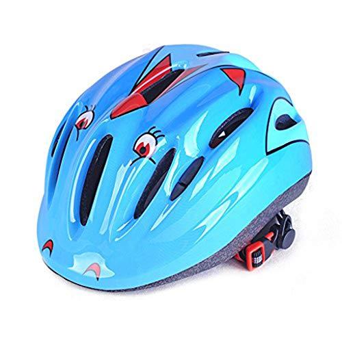 einkind Fahrradhelm - Multi-Sport Verstellbarer Helm für Kinder (Alter 7-15), Fun Print Design für Kinder Skating Radfahren Roller (Color : Blue) ()