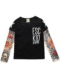 Hibote Boy Father Vestiti da Abbinare T-Shirt da Tatuaggio in Cotone Manica  Lunga 9c8354afd51d