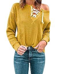 JUTOO Vetement Femme Grande Taille Pas Cher a la Mode T-Shirt décontracté à Manches  Longues en Vrac pour Femmes Top Femme Grande… b5ae43aeb7c4