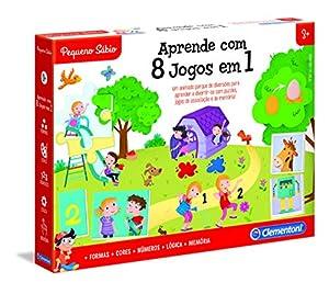 Clementoni - APRENDE COM 8 JOGOS EM 1 (67644 - Versión Portuguesa)