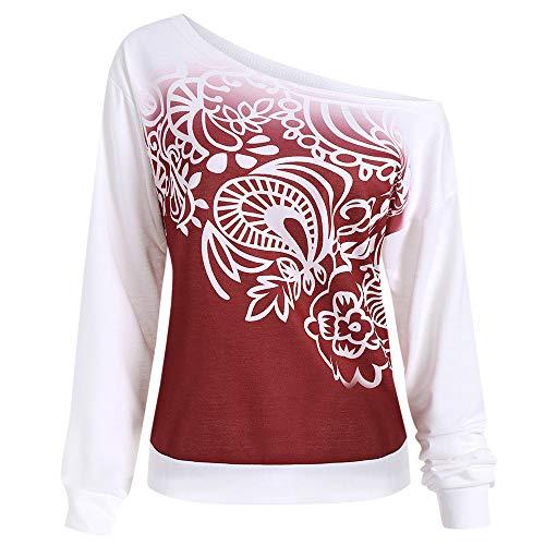 Oliviavan,Frau Lässige Herbst Printed Long Sleeve Sweatshirt Bluse T-Shirt Damenmode Tops Shirt...