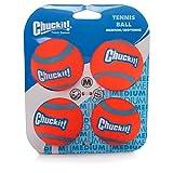 Chuckit Tennisball, Spielzeug für Hunde, Größe M (6,5cm), 4 Stück