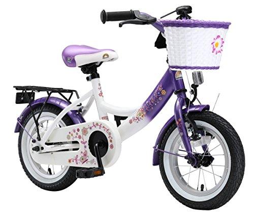 Bikestar Kinderfahrrad von 30,5cm (12Zoll), Lila und Weiß