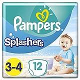 Pampers Splashers Einweg-Schwimmhose - Größe 3/4 (6-11kg) - Packung mit 12