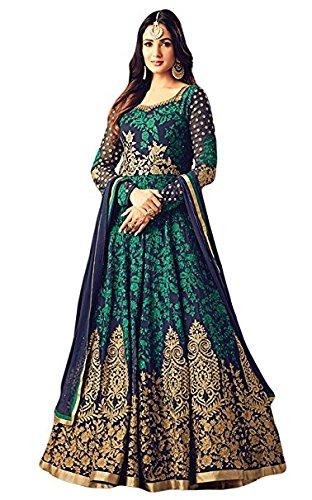 Monika Silk Mill salwar suits for women (MSM-Maisha 4705 green)