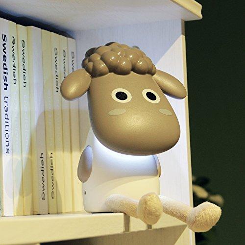Happy Sheep Schreibtisch Leselampe USB aufladbare–perfekte Geschenk für Kinder/Studenten JnDee ™ grau